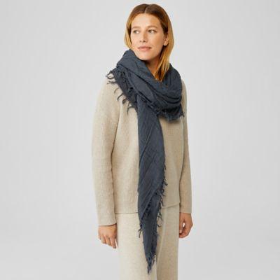 Textured Wool Gauze Scarf
