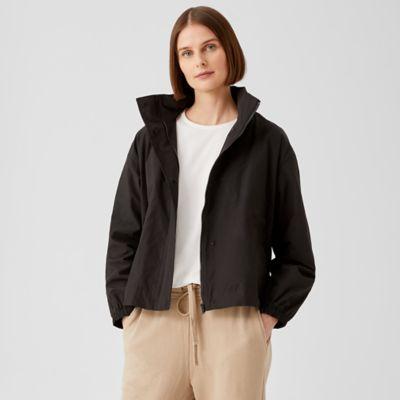 Light Cotton Nylon Stand Collar Coat