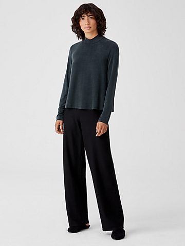 Boiled Wool Jersey Straight Pant