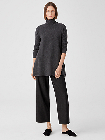 Soft Wool Flannel Straight Pant
