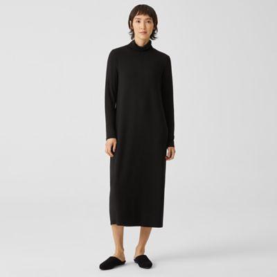 Fine Jersey Scrunch Neck Dress