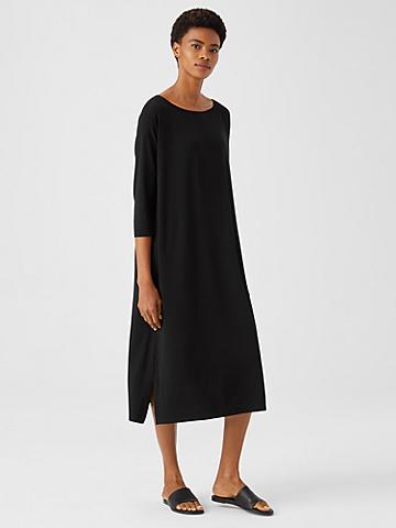Fine Jersey Boatneck Dress