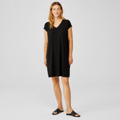 Fine Jersey V-Neck Dress