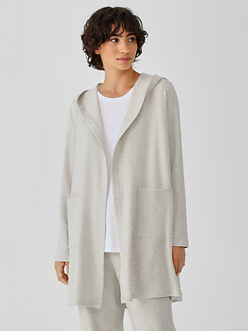 Cozy Brushed Terry Hooded Jacket