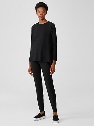 Cozy Brushed Terry High-Waisted Leggings