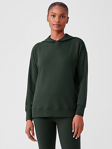 Cozy Brushed Terry Hooded Top