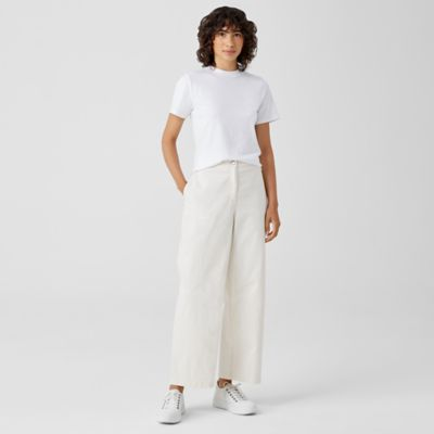 Undyed Organic Cotton Stretch Wide-Leg Jean