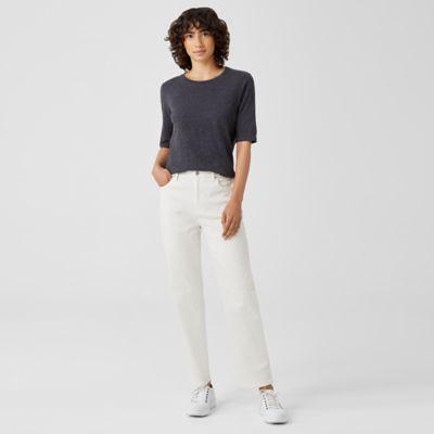 Undyed Organic Cotton Stretch Straight Jean
