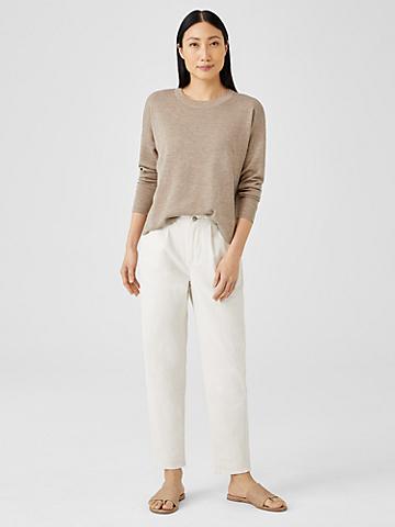 Undyed Organic Cotton Denim Tapered Pant