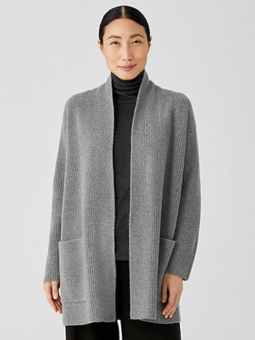 Recycled Cashmere Wool Cardigan