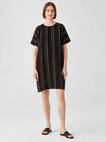 Organic Linen Blend Striped Dress
