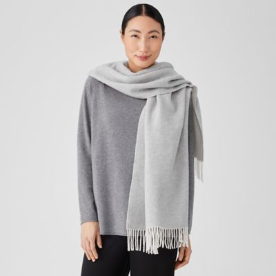Brushed Recycled Cotton Cashmere Scarf