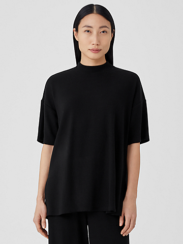 Ribbed Organic Cotton Blend Top