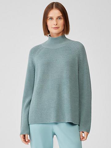 Merino Turtleneck Top in Responsible Wool