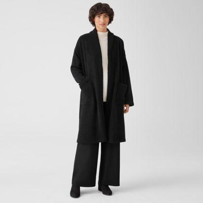 Boucle Wool Knit Long Coat