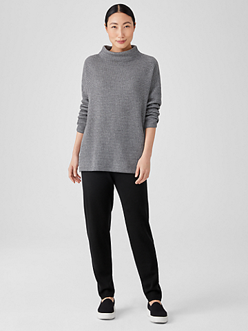 Merino Jersey Tapered Pant in Responsible Wool