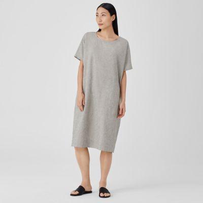 Organic Cotton Linen Ticking Stripe Dress