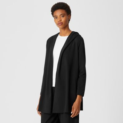 Traceable Organic Cotton Jersey Hooded Jacket