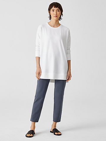 Traceable Organic Cotton Jersey High-Waisted Pant
