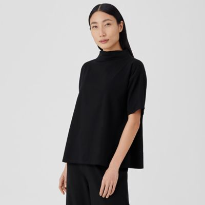 Traceable Organic Cotton Jersey Funnel Neck Top