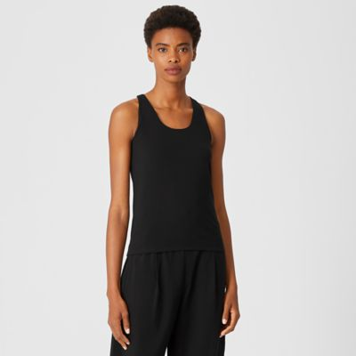 Traceable Organic Cotton Jersey Racer-Back Tank