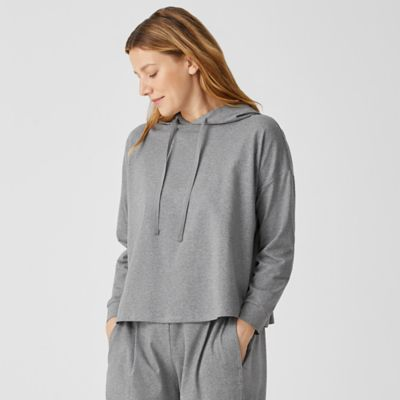 Heathered Organic Cotton Hooded Top