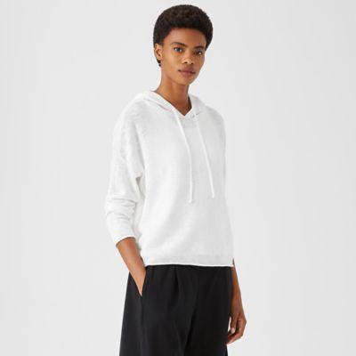 Organic Cotton Linen Slub Hooded Top