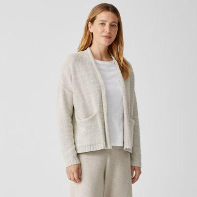Peruvian Organic Cotton Boucle Cardigan