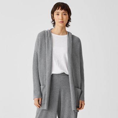 Peruvian Organic Cotton Hooded Cardigan