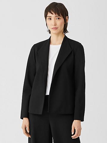 Washable Flex Ponte High Collar Jacket