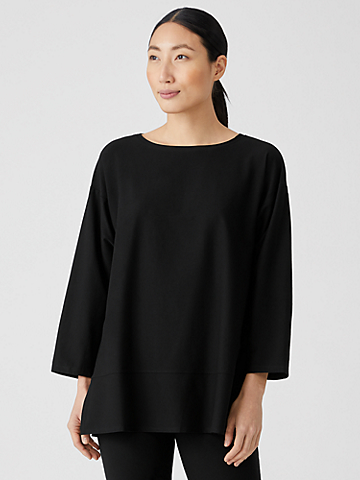Lightweight Washable Stretch Crepe Top