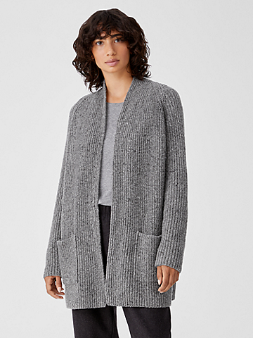 Recycled Cashmere Tweed Cardigan