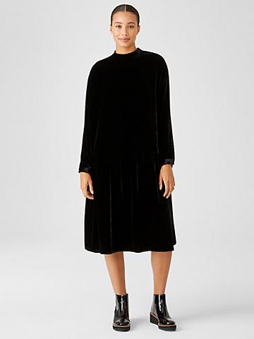 Velvet Drop-Waist Dress