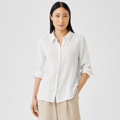 Organic Cotton Gauze Striped Shirt