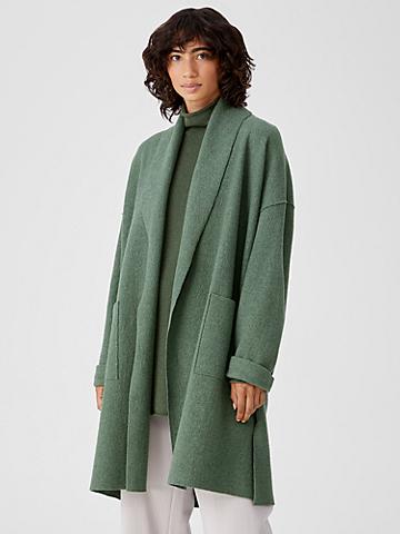 Lightweight Boiled Wool Coat in Responsible Wool