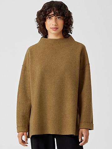Lightweight Boiled Wool Top in Responsible Wool