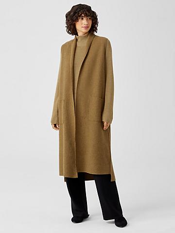 Lightweight Boiled Wool Long Vest in Responsible Wool