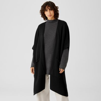 Recycled Cashmere Wool Pocket Wrap