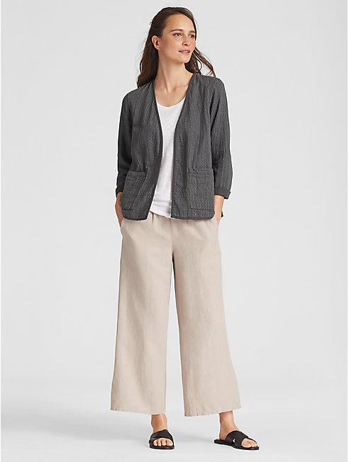 Reversible Organic Cotton Kimono Jacket