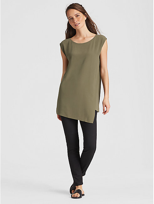 Silk Georgette Crepe Tunic