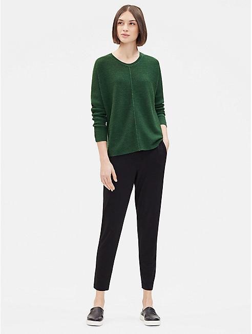 Merino Links Round Neck Top