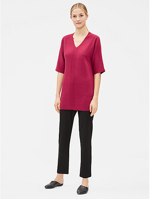 Merino V-Neck Tunic