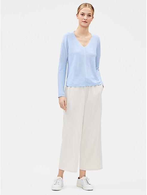 Tencel Organic Cotton Silk V-Neck Top