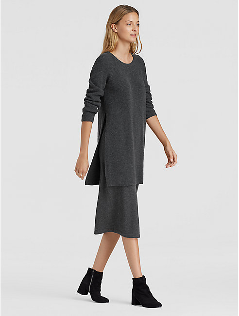 Italian Cashmere Side-Slit Tunic