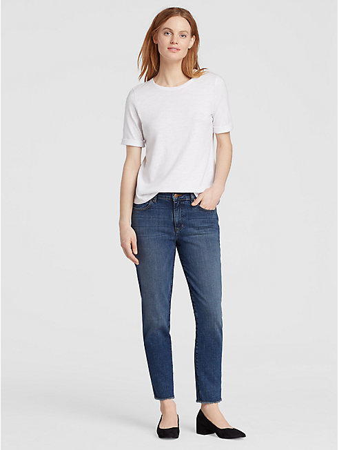 High Rise Organic Cotton Stretch Jean