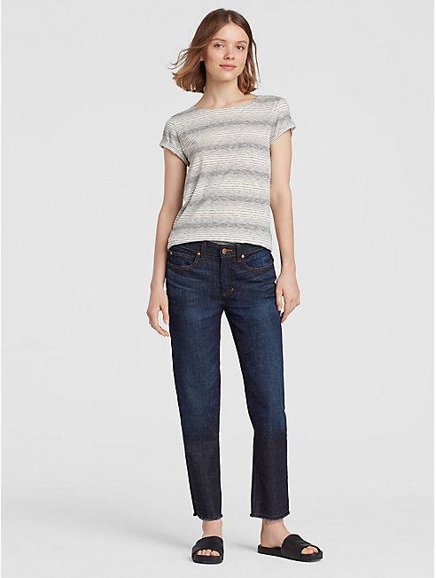 High Rise Organic Cotton Stretch Jean