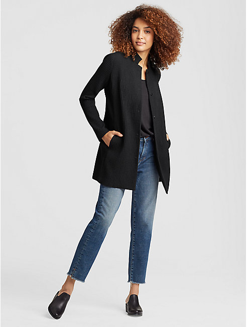 Tencel Stretch Grid Long Jacket