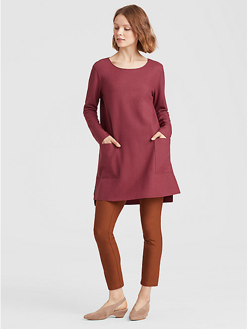 Boiled Wool Jersey Pocket Tunic