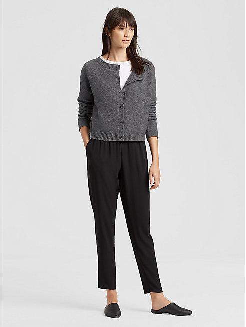 Cashmere Silk Short Cardigan
