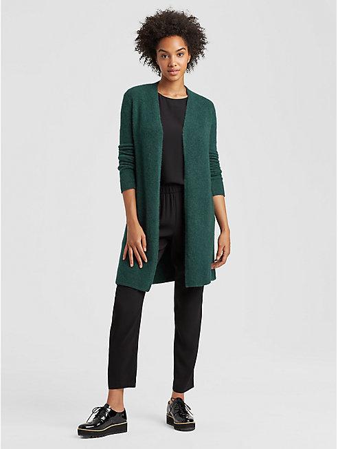 Cashmere Silk Long Kimono Cardigan